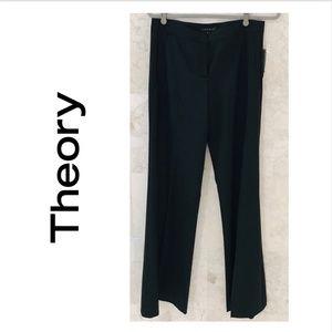 THEORY {6} Pants Black 🆕 Wool Pockets Fryan NWT